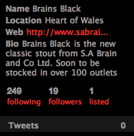 @BrainsBlack Following and followings